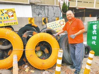 書法老師蕭錦明 20年守護用路安全