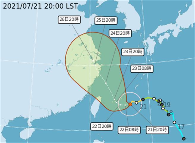 烟花目前位在台北東南東方530公里海面上,以每小時6公里的緩慢速度轉西北西方向移動,強度上仍有增強趨勢,基隆北海岸到台東地區已經觀測到3-5米的浪高,西半部、東半部、澎湖、金門、馬祖也要慎防8-10級強陣風。(取自氣象局)