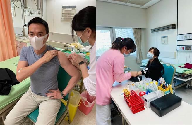 夫妻倆解盲都打到真正疫苗。(圖/翻攝自臉書)