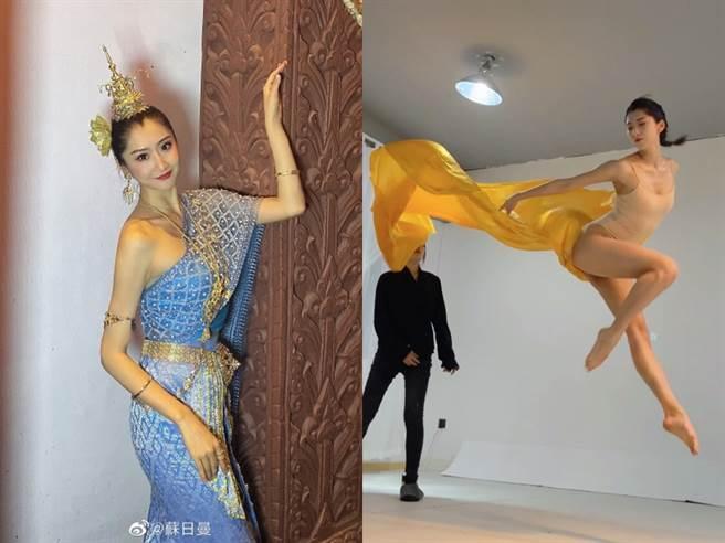 蘇日曼得病前熱愛舞蹈,還是旅遊小姐冠軍,努力把人生過得精彩。(圖/微博@蘇日曼)