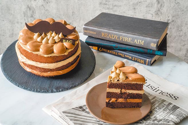 BAC「鬍子先生焙茶巧克力蛋糕」6吋950元。(BAC提供)
