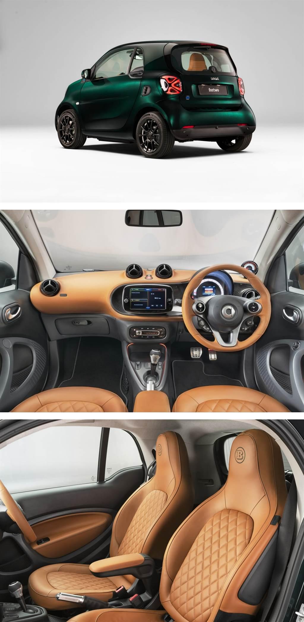 smart EQ fortwo推出BRABUS定制Racing Green Edition特仕車款