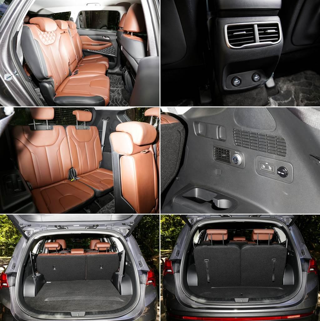 第二排後座空間受惠於車格加大而增加34mm,第三排雖然成人不宜,但仍提供獨立空調調整。
