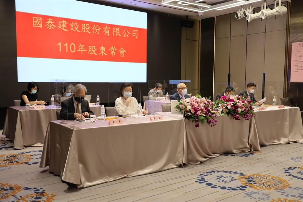 國泰建設(2501)今日於國泰萬怡酒店召開股東會,宣布將在全台推出5大指標案。(業者提供)