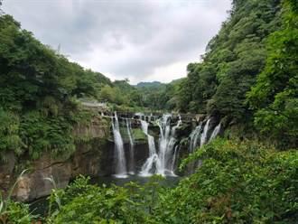 烟花颱風影響山區 十分瀑布公園24日閉園
