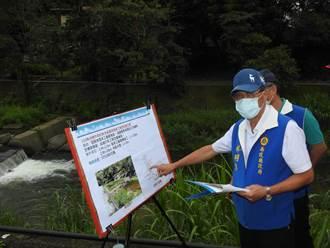 魚池溪固床工損壞 林明溱會勘增設消能水墊