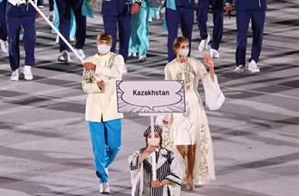 東奧》哈薩克美女口罩遮不住逆天美貌 掌旗手一個比一個正