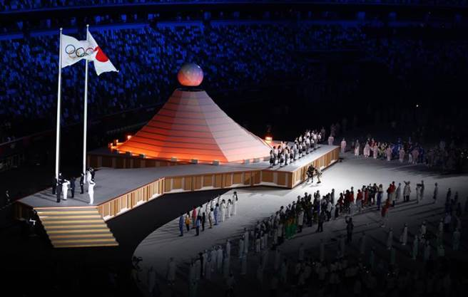 奧運聖火台是由富士山為概念(路透社)