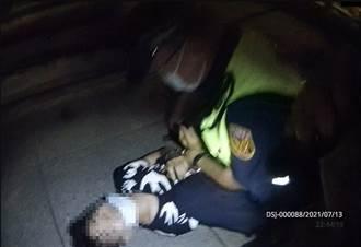平溪老街男未戴罩遭警勸導 裝肚痛蹲地全因腰身藏槍