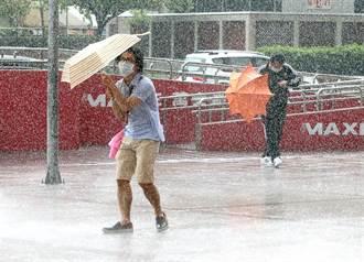 烟花颱風螺旋雨彈炸台灣 專家:北部人別出門