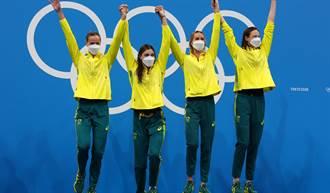 東奧》首個大會 世界紀錄出爐 澳洲女子400公尺泳隊摘金