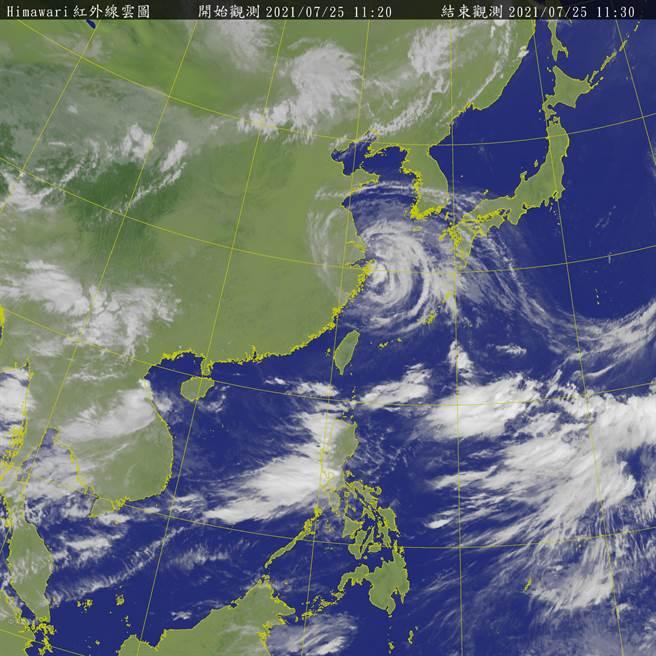 西南季風在未來7到10天將影響台灣中南部天氣,中南部除了有局部性大雨外,周三後水氣增加,南部山區甚至有局部豪雨機率,背風側的北部與東半部則屬於高溫炎熱。(取自氣象局)