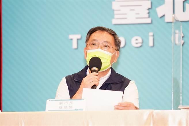 台北市副市長蔡炳坤。(台北市政府提供/張立勳台北傳真)