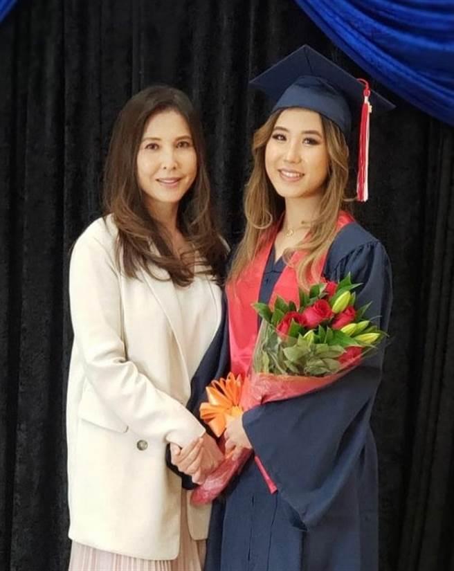 53歲李婉華和18歲女兒站在一起像姐妹。(圖/IG@anitayuenwahlee)