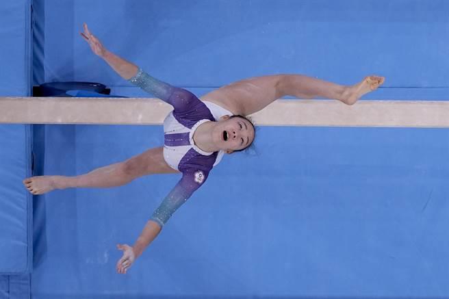 丁華恬完成奧運首戰,認為自己沒怯場、盡力完成,已經很滿足。(美聯社)