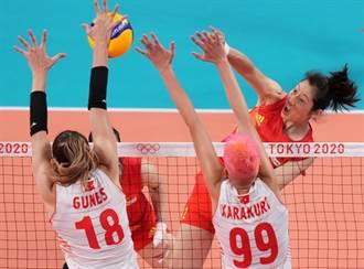東奧》大陸女排失利 0:3不敵土耳其