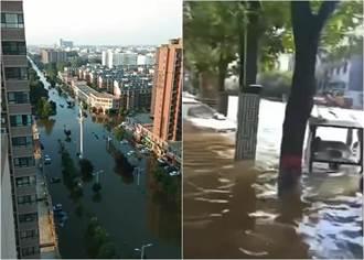 河南衛輝市全城淹水最深1.6公尺 官方深夜發文求助
