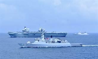 英女王號航母打擊群進入南海 多艘戰艦與泰馬星交匯演習