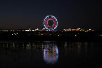 麗寶「天空之夢」燈光秀 為奧運中華健兒加油