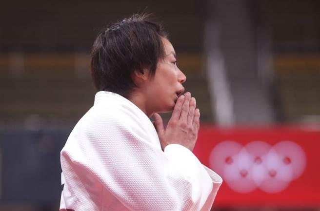 台灣柔道女王連珍羚意外在東奧16強賽止步。(季志翔攝)