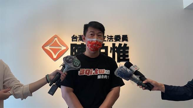 面對經歷造假的指控,台灣基進黨立委陳柏惟反控是烏賊、口水戰。(林欣儀攝)
