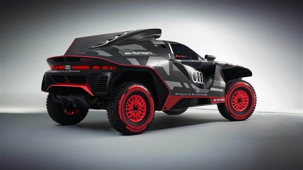 Audi RS Q e-tron 公開亮相:配有增程引擎的電動越野猛獸!