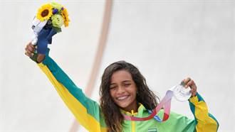 東奧》破奧運85年紀錄 13歲巴西滑板小將成最年輕奪牌者