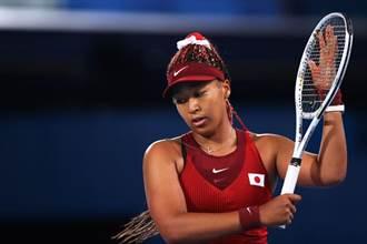 東奧網球》開幕點燃聖火 大坂直美女單16強爆冷落馬