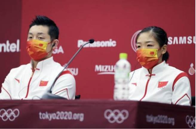 中國隊敗於日本隊未能奪下混雙乒乓金牌。取自新浪新聞
