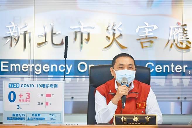 台灣民意基金會今公布最新民調,台灣人對六都市長防疫表現;50.3%覺得新北市長侯友宜表現較好。(新北市府提供/陳慰慈新北傳真)