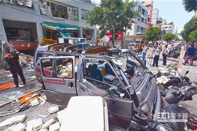 「玉膳坊」中央廚房2017年6月發生氣爆造成12人受傷。(本報資料照片)