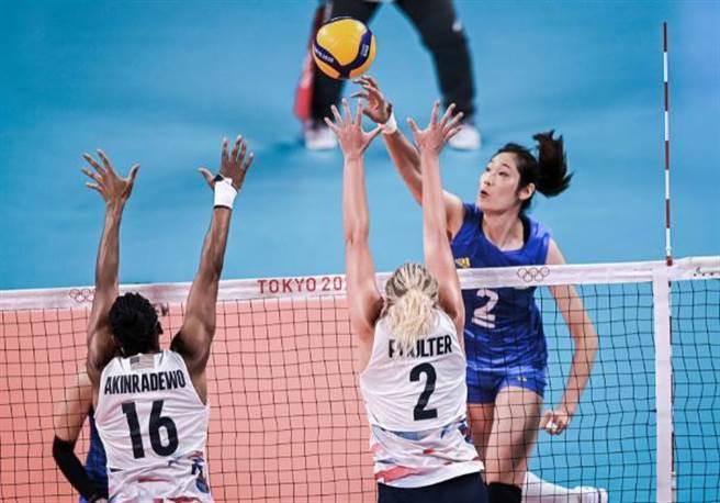 東奧中國女排不敵美國遭遇2連敗。(摘自百度/小來聊體壇)