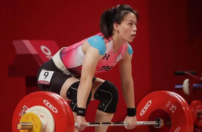 舉重女神郭婞淳為台灣摘下東奧首面金牌。(記者季志翔攝)
