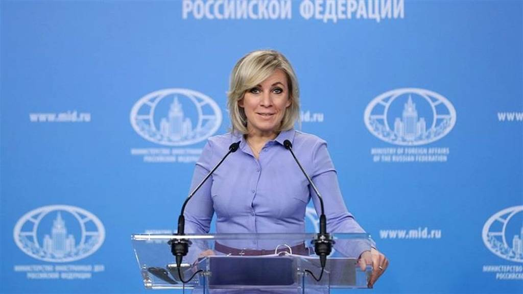 俄羅斯外交部發言人扎哈羅娃(Maria Zakharova)。取自央視
