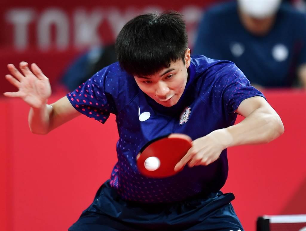 林昀儒八強賽直落四橫掃對手,四強賽將遭遇大陸球王樊振東。(季志翔攝)