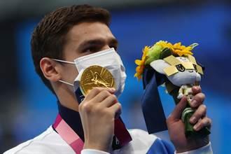 東奧》戴貓嘴口罩頒獎遭拒 俄羅斯泳將喊好想哭