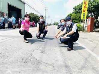 立委楊瓊瓔爭取重舖「補丁路」 路平2公里8月底完工