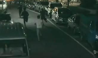 黑幫街頭逞凶放信號彈 警方鎖定兩派人馬