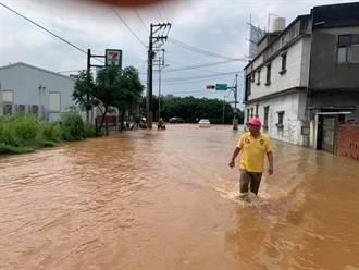 桃園新屋福洲路 下水道動工改善淹水問題