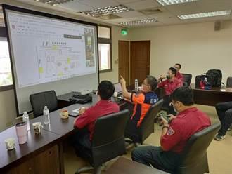 防疫旅館火警敲警鐘 台南消防局首創線上兵推搶救演練