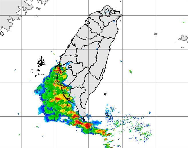 西南季風持續,氣象局針對南高屏發布大雨特報。(中央氣象局提供)