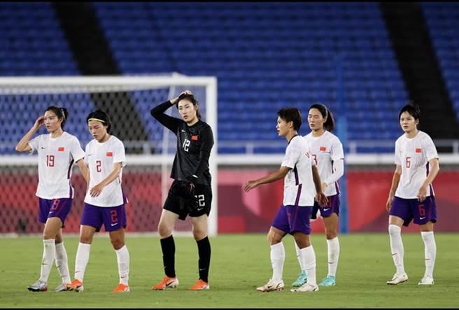 中國女足在東奧小組賽慘敗巴西及荷蘭隊。取自北京青年報