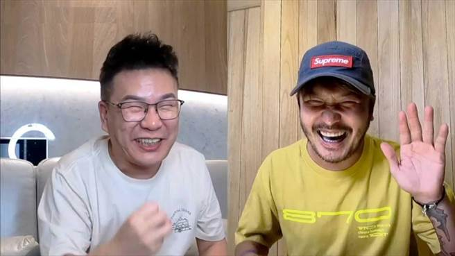 沈玉琳(左)的辛辣問題差點讓KID招架不住。(TVBS提供)