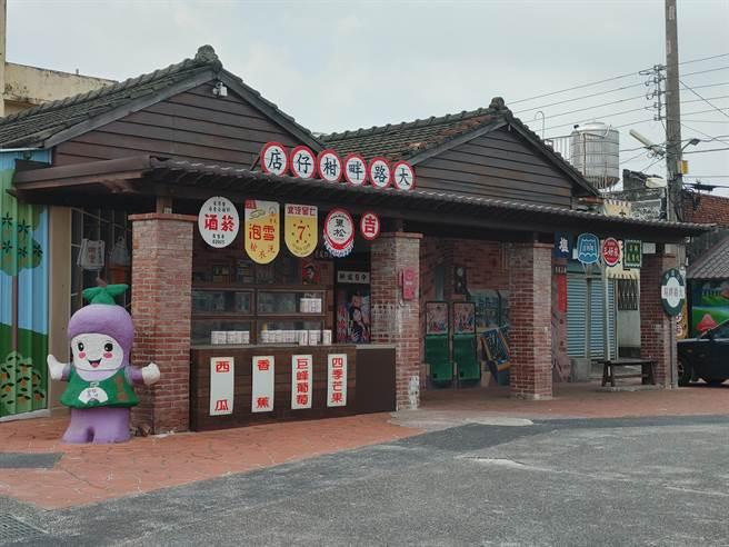彰化大村3D復古彩繪柑仔店 傳統紅磚三合院瞬間回到50年代