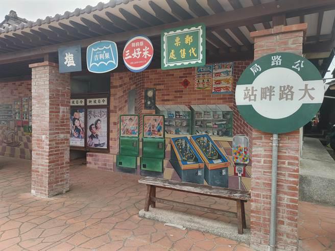 「大路畔柑仔田3D彩繪村」是由大橋社區發展協會所一手打造,在社區營造與保留傳統之間取得平衡,彩繪出3D柑仔店。(吳建輝攝)
