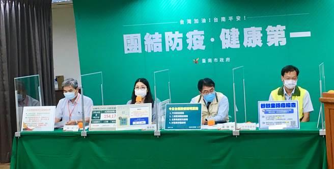 27日調降為二級警戒,台南市政府跨局處稽查。(台南市政府提供/曹婷婷台南傳真)
