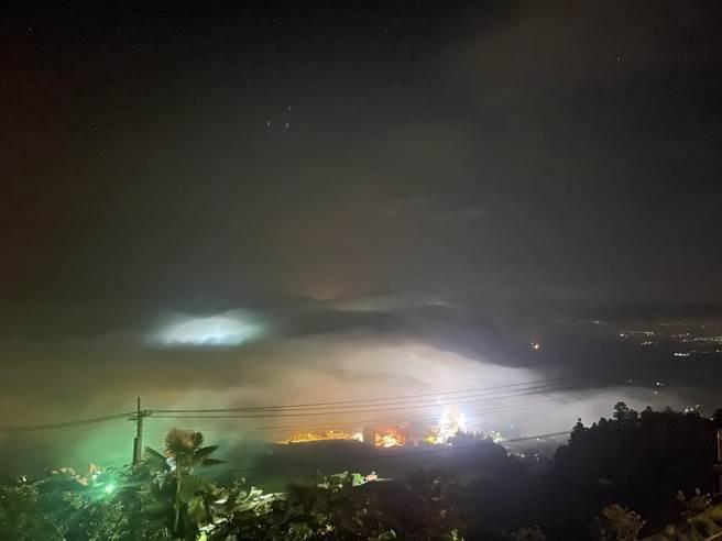 嘉義縣竹崎鄉中和村石棹地區目前正在進行電纜地下化工程,未來拍攝美景將不再受電線干擾。(洪銀盛提供/張亦惠嘉縣傳真)