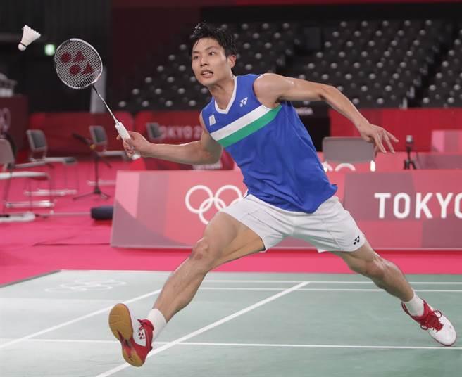 名列東奧桌球男單第2種子的周天成。(季志翔攝)