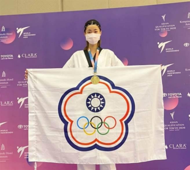 羅嘉翎在東京奧運女子57公斤級踢下銅牌。(圖/ 摘自羅嘉翎IG)