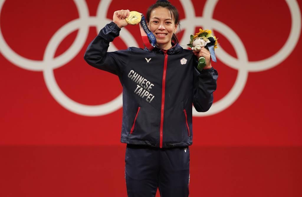 「舉重女神」郭婞淳在東奧奪下金牌,完成舉重生涯「金滿貫紀錄」。(圖/中時記者季志翔)
